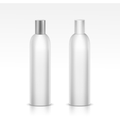 Isolated blank bottle vector