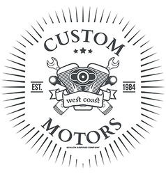 Custom motor t-shirt print design vector