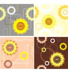 Sunflower patterns vector