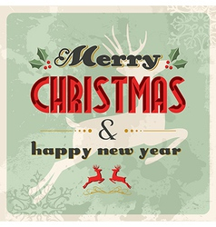 Merry christmas and happy new year vintage vector
