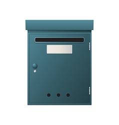 Metal mailbox vector