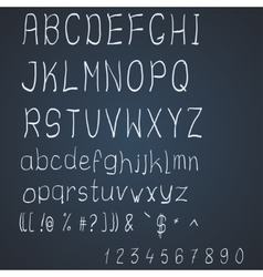 Scribble alphabet vector