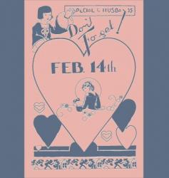 Valentines poster vector