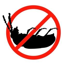 Stop pests vector