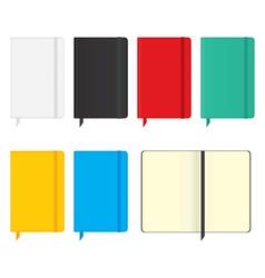 Moleskine notebooks vector