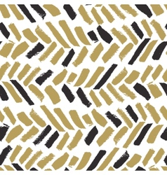 Trendy seamless pattern with ink brush strokes vector