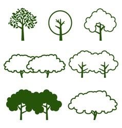 Set of tree icon vector