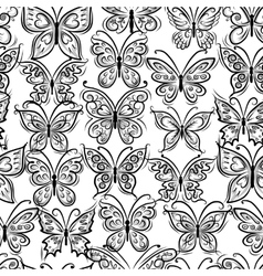 Butterflies ornate seamless pattern for your vector