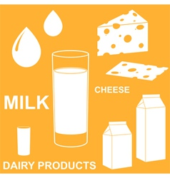 Dairy product vector