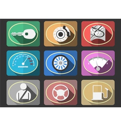 Automotive flat icons vector