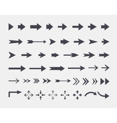 Set of different arrows isolated on white backgrou vector