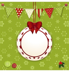 Christmas bauble and background vector