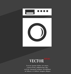 Washing machine icon symbol flat modern web design vector