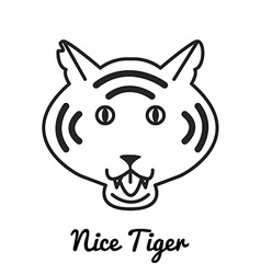Tiger logo or icon in vector