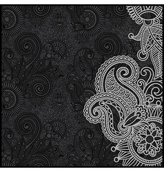 Ornate black and white floral pattern vector