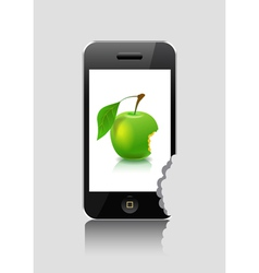 Player and green apple vector