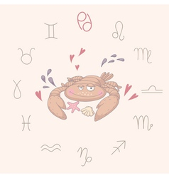 Cartoon of the crab cancer vector