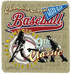 9th inning baseball champ vector