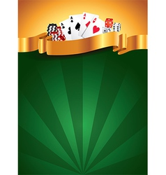 Casino vertical background vector