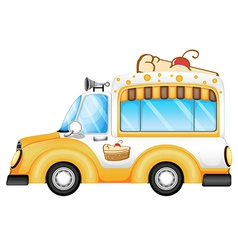 A vehicle selling cakes vector