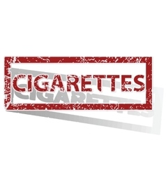Cigarettes outlined stamp vector