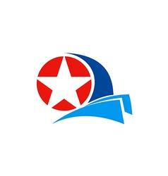 Star logo america emblem vector