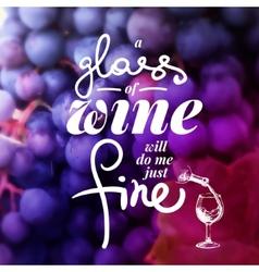 Wine list typographics hand drawn vector