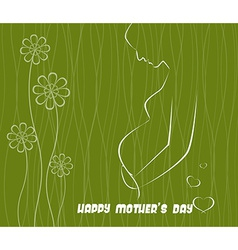 Happy mothers day celebration vector