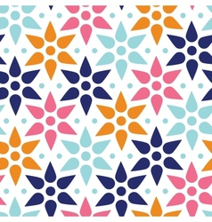 Abstract colorful stars seamless pattern vector