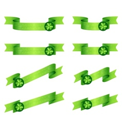 Ribbons shamrock vector
