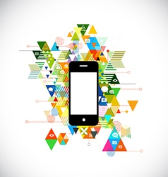 Mobile and colorful geometric graphic template vector