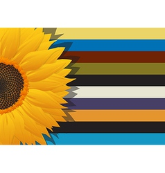 Sunflower abstract card vector