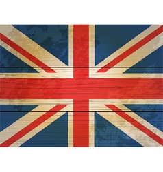Wood planks union jack vector