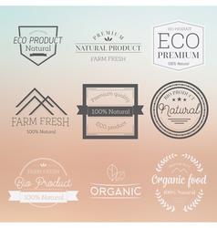 Organic label badge vector