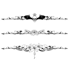 Set of gothic borders vector