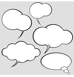 Comics style speech bubbles vector