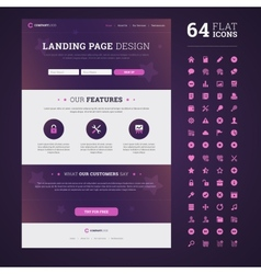One page design landing page vector