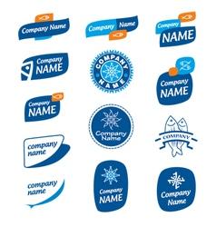 Logo frozen seafood vector