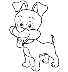 Dog outline vector