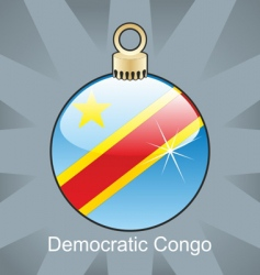 Democratic congo flag on bulb vector