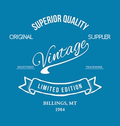 Vintage retro t-shirt typography vector