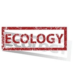 Ecology outlined stamp vector