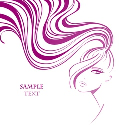 Woman background vector