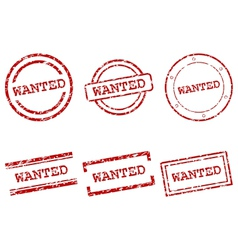 Wanted stamps vector