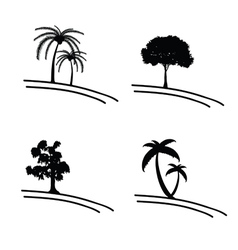 Tree icon and symbol vector