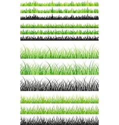 Seamless grass set vector