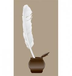 Feather pen vector