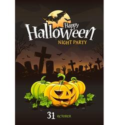 Halloween poster 3 vector