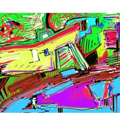 Original of abstract art digital vector
