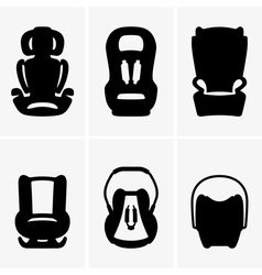 Baby car seats vector